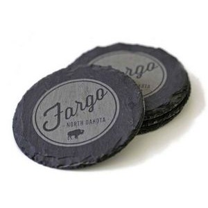 Slate Round Natural Coaster (Set of 4)